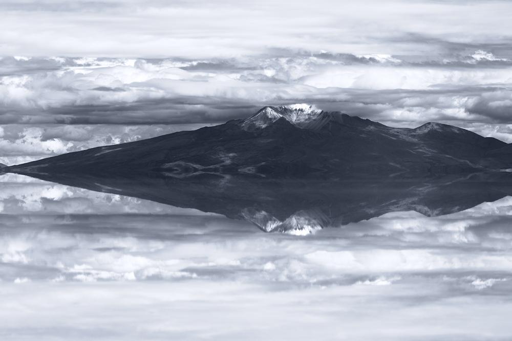 Vulcano, Salar de Uyuni, Bolivia