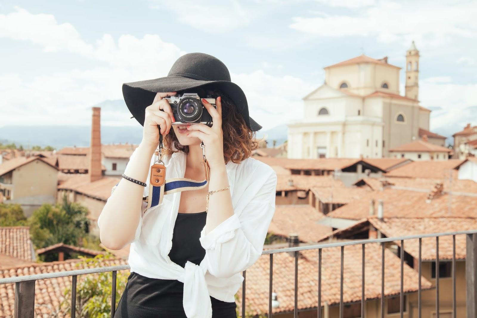 fashion person woman taking photo