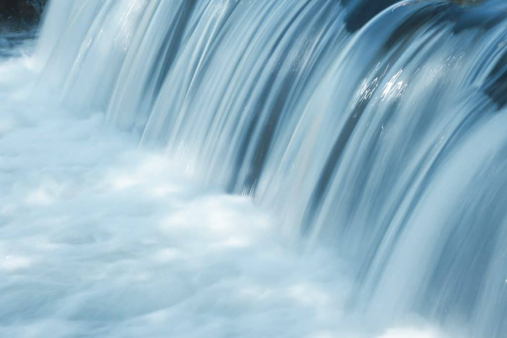 Waterfall close crop of water only